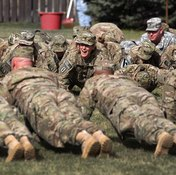 Pushups are a basic component of the U.S. Army's fitness program.