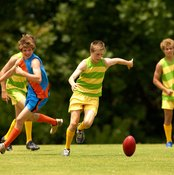 There are a plethora of muscle activated during a football kick.
