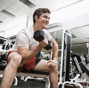 Weightlifting is essential in conditioning for male cheerleaders.
