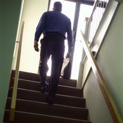 A stepmill mimics the motions of climbing stairs.