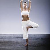 Yoga poses build core strength.