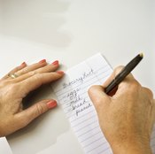 Write down your goals and post them where you will see them.