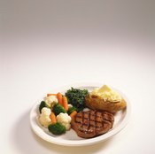 A traditional meat and potatoes dinner provides you with potassium and vitamin B-12.