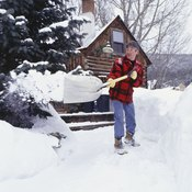 Most people twist their bodies as they lift heavy shovels of snow.