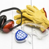 Wear the appropriate safety gear when using contact cement.