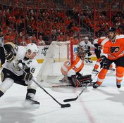 Sidney Crosby's tricky stickhandling often fools his opponents.