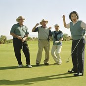 Four-player teams are ideal for golf scramble tournaments.