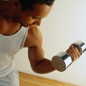 A supinated dumbbell curl strengthens your biceps.