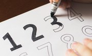 How to Teach Children to Write Numbers