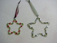 Make beaded star ornaments.