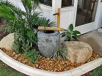 Here is an example of a Japanese-style water feature.