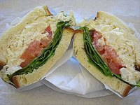 Chicken Salad Sandwich with Tomato and Lettuce
