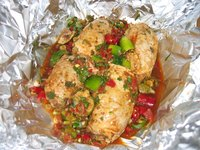 Make Foil Wrapped Salsa Chicken