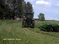 Mowing hay first cutting