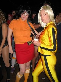Put together a Velma Dinkley costume for Halloween.