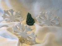 Sugar snowflakes can add a tasteful touch to your Christmas decor.