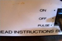 "An original Cuisinart admonishes to ""read instructions before using"""