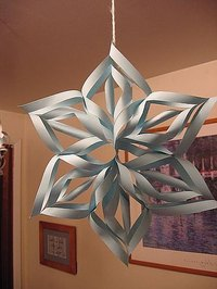 How to Make a 3D Paper Snowflakes
