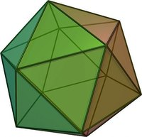 A icosahedron is a 20-sided shaped.