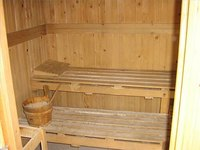 Interior of Outside Sauna