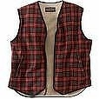 Men Fleece Lined Flannel Vest