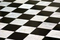 Paint a Checker Board Black and White Room