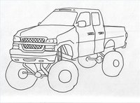 Draw a Jacked Up Truck