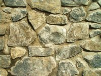 A stone wall.