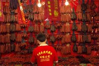 Dried sausage in Singapore