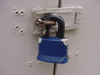 A padlock is normally used in conjunction with a hasp.
