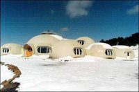 Dome home in deep snow