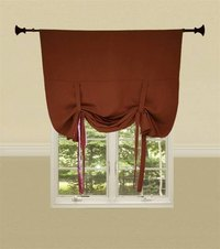 Tie-up window shade