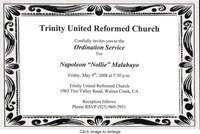 Ordination invitation.