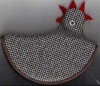 chicken potholder crafts project