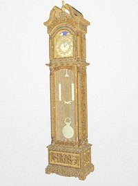 A grandfather clock makes use of a pendulum.