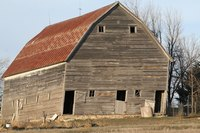 Siding the outside of your barn with metal siding will improve the appearance of your property.