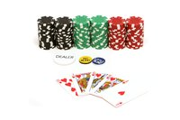 Make large foam replicas of your casino poker chips to decorate your party space.