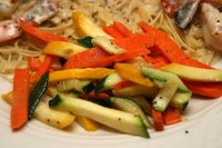 Healthy steamed vegetables are easily cooked in an oven roaster.