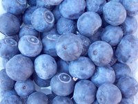 Blueberries are high in nutrients and antioxidants.