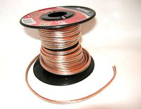 Speaker wire conducts electricity just like any wire of similar composition and gauge.