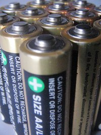 Regular household batteries aren't easy to recycle.
