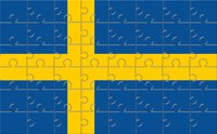 Coloring Sweden's flag is an easy craft for young children.