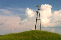 An electrical pole can detract from an otherwise appealing landscape.