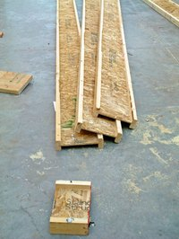 Engineered floor joists can easily be cut to length.