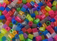 Holed plastic cylinder beads melt easily.