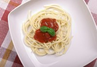 Spaghetti is a popular dish with people of all ages.