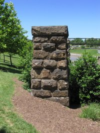 Faux stone pillars can be created easily using foam.