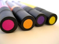 Fabric markers can be used to personalize T-shirts.