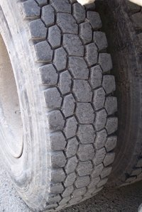 Filling a tire with foam keeps it from going flat.