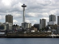 Build a replica Space Needle for a project representing Seattle, Washington.